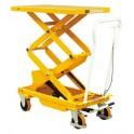 Table élévatrice manuelle double ciseaux 150 kg/1430 mm