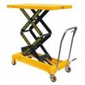 Table élévatrice manuelle double ciseaux 350 kg/1300 mm