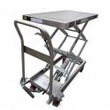 Tables élévatrices manuelles semi-inox