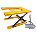 Table élévatrice fixe électrique extra-plate en « E » 1000 kg/885 mm