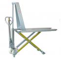 Transpalette manuel INOX à haute levée / Capacité 1000 kg