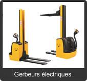 notre gamme de gerbeurs électriques