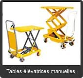 notre gamme de tables élévatrices