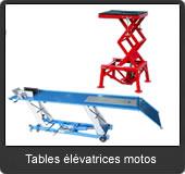 notre gamme de tables élévatrices motos