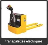 notre gamme de transpalettes électriques